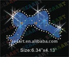 bow glitter and rhinestone hotfix transfer motif