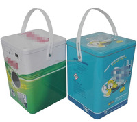 wholesale square metal tin container for laundry powder