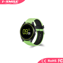 Factory GSM Hot Selling V9 1.22inch Round Shape Display Support 2G SIM Card Mobile Phone Smart Watch