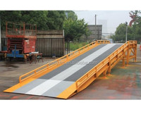Yard Dock Warehouse Hydraulic Yard Ramp Container 6-15 T Dock Ramp Mobile Loading Ramp for Forklift