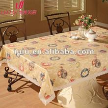 tablecloth solid colored with golden / silver dots