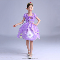 Kids printed princess dresses