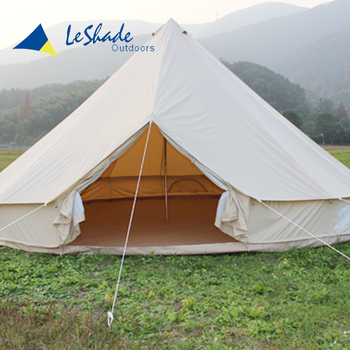 Fire resistant lightest roof top 5 person steel tube bell tent waterproof tourism