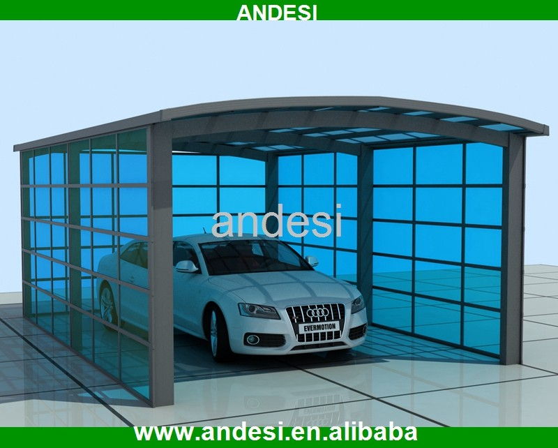 polycarbonate solid sheet carport with curved dome