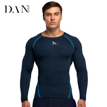 Factory Direct Fitness Clothing Men's Tights Sports Shirt Running Training Coaching Clothes Quick Dry Long Sleeve Clothes