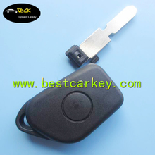 Topbest 1 button car key case shell 406 key blade and battery holder for car key housing