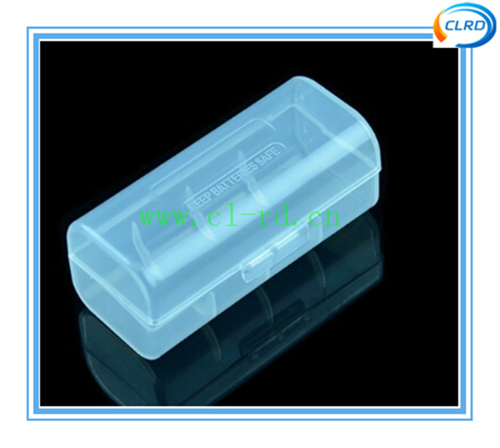 transparent color 1pcs 26650 plastic hard case with high quality wholesale