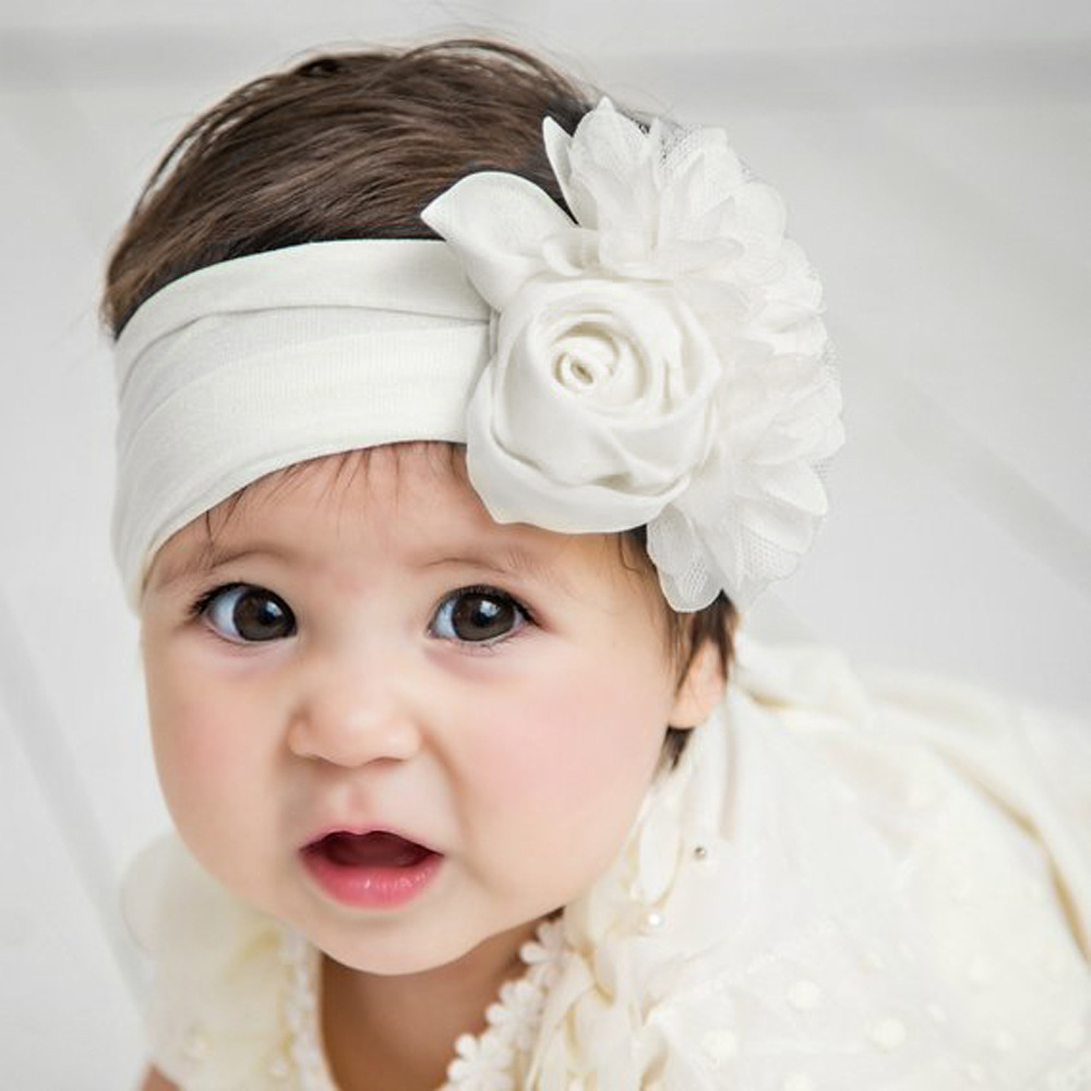 Bow knot Elastic Head Bands For Baby Girl Headband Kids <strong>Hair</strong> <strong>Accessories</strong> 6 Colors