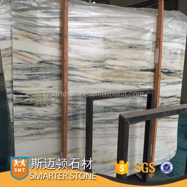 Sandle Wood Marble Ancient White Grey Marble Slab Price
