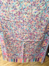 Handmade Jamawar Fine Wool Shawl / Indian Kashmiri Shawl Stole in Jacquard Work