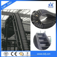 Lanjian brand plant price BV/DIN certified nn canvas large loading capacity high angle corrugated sidewall rubber conveyor belt