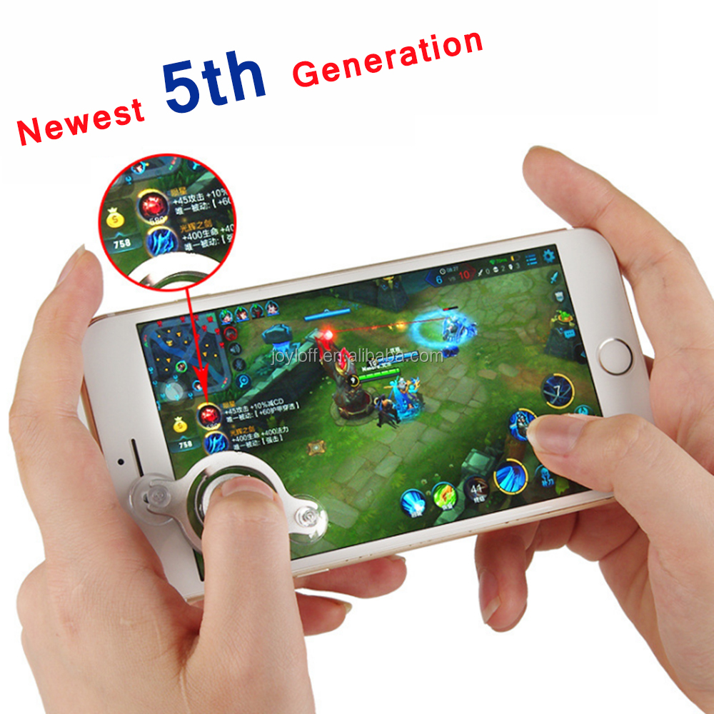 Newest 5th Generation Fashionable Touch Screen Mobile Phone Game Fling Mini Small Joystick For Android IOS Smartphone Phone
