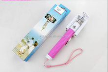 selfie stick, wired remote extendable walking stick with candy-colored for iphone6/6s samsung