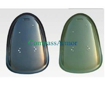 Black, Green French Glass Fiber Police Riot Shield with 690 x 510 x 3.5 mm
