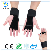 leather hand palm pads, hand grips with wrist wraps for gym weightlifting trianing pull ups and more