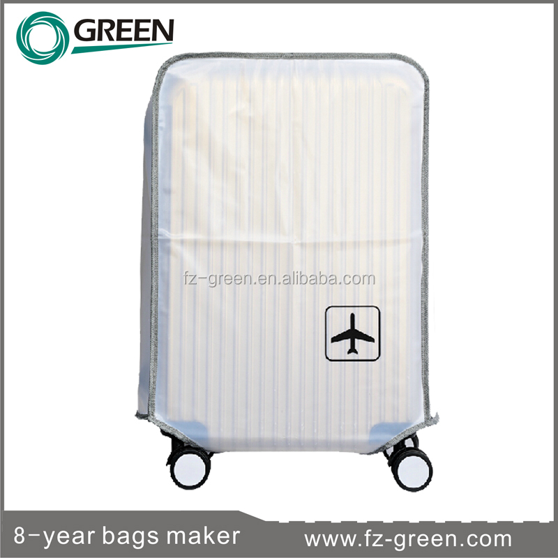 White PVC plastic cover luggage wheel cover