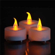 12 Battery Operated LED Tealight Candles Flameless Heatless Faux Wedding Holiday Christmas Thanksgiving Party Light