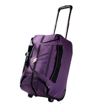 2014 custom purple trolley travel duffle bag