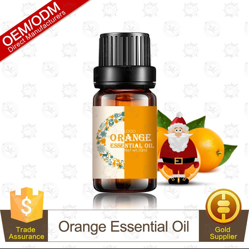 Christmas Hot Selling Softy and Safety 100% Pure and Natural Orange Essential Oil OEM Supply
