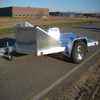 Aluminum Sliver Open Heavy Duty Camping Dirt Bike Motorcycle Trailer