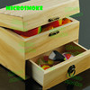 Wooden Tin kit set silicone jars container full sizes jar containers for concentrate/wax dab oil