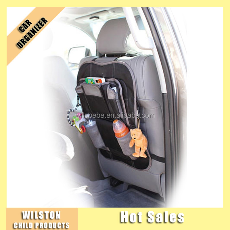 Foldable Car Organizer with Pockets Back Seat Organizer with hooks on sides