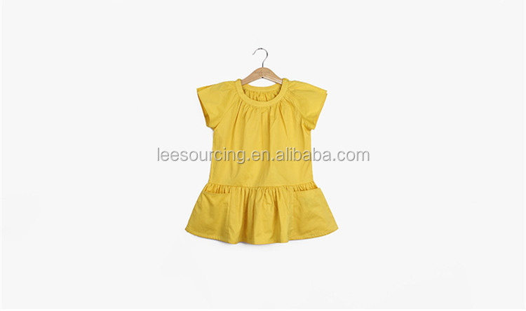 Wholesale short sleeve cotton kids fashion clothes casual baby girl summer dress