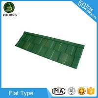 Wholesale Flat stone coated steel metal roofing tiles,colorful stone-coated metal roofing tiles made in China