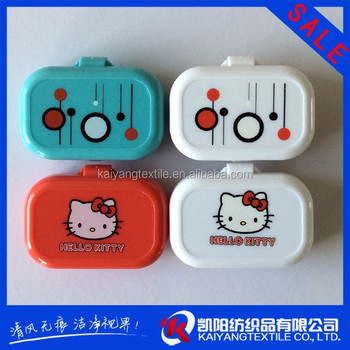hot sale silk screen printing contact lens case small MOQ