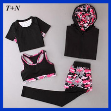 Custom Sublimation Polyester Spandex Sport Bra Running Singlet Compression Tight Gym Wear Fitness Pant Yoga Uniform