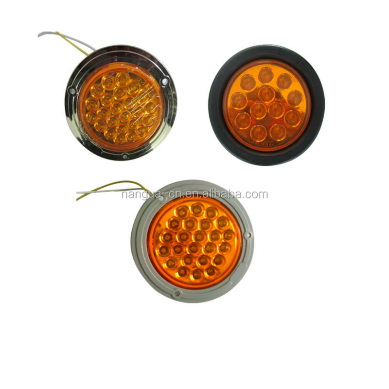 "4"" Round 24V LED Tail Light for Truck and Trailer"