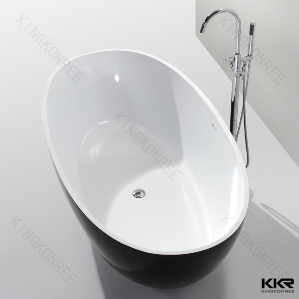 Solid surface material small bathtub shower bath