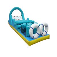 GMIF-5615 Kids happy time inflatable water slip and slide with water pool for kids playing