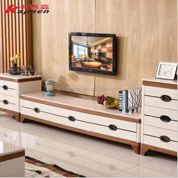 Living Room TV Stand Furniture Home Designs Wood Glass Storage Cabinet TV Stands