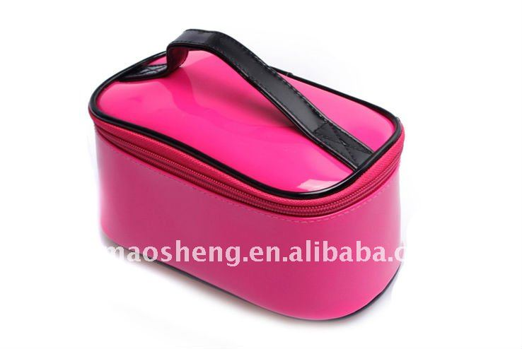 shining PU cosmetic case for promotion