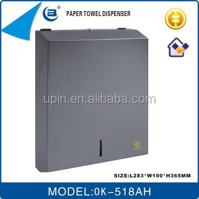 Paper towel dispenser made of 304 stainless steel OK-518AH