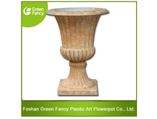 decorative outdoor big plastic flower garden tall urn planters pot