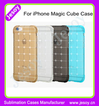 JESOY Magic Cube Clear TPU Cell Phone Case Cover For Apple iPhone 5 5C 6 6S Factory Price