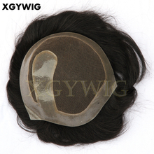 Fatory high quality lace and PU skin integration piece 100% Indian remy human hair men's toupee