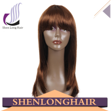 Wholesale top quality human hair silky straight blonde full lace wig middle part synthetic wig