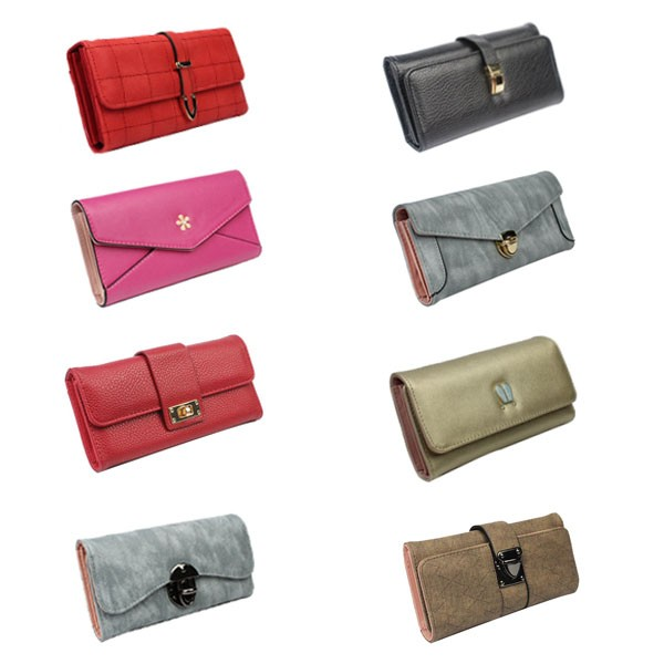 RFID pu fabric Woman men's blocking credit card holder 7slots wallet with single metal zipper around