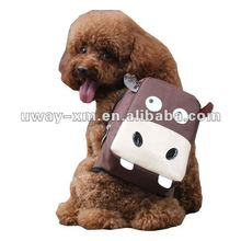 UW-PBP-003 Bijou and Portable style brown hippo face shape nylon pet backpack for dogs,cats