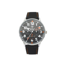 Mens Top brand watch Alloy Case Silicone Slap Black Strap Watch
