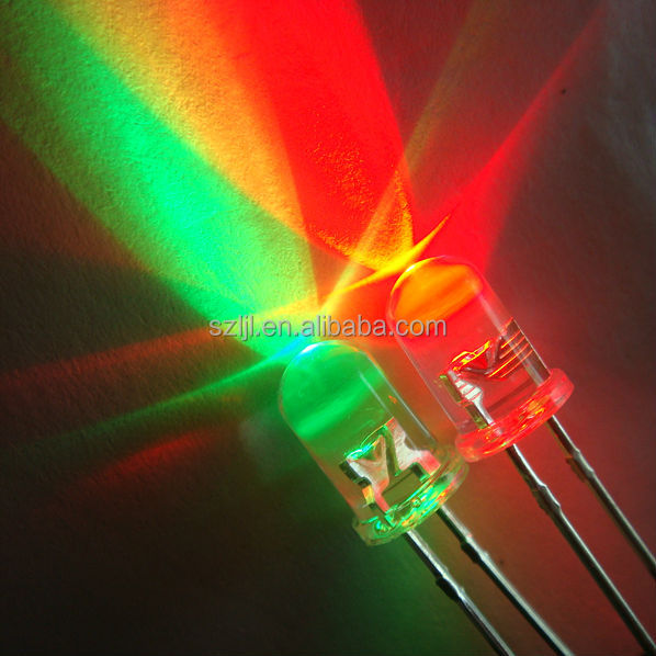 Shenzhen Water clear / diffused variable color round led diode 5mm 1.8-2.2V round top