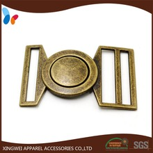 custom retro alloy metal dress belt buckle for women's coat