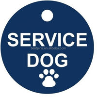 bule aluminum service dog paw pet id tag gold supplier