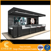 Cheap price wholesale multi-functional glass jewelry showcase/watch display case/mobile phone accessories glass display case