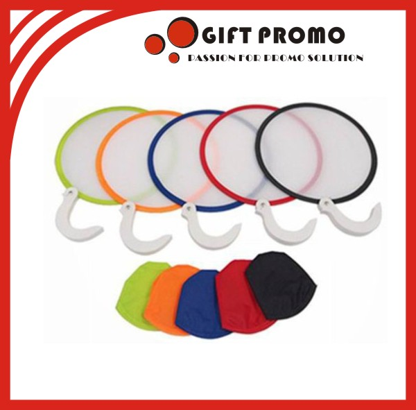 Custom Cloth Made Fold-able Frisbee Fan