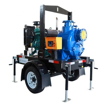 diesel engine pump with trailer mounted cast iron or stainless steel water pump