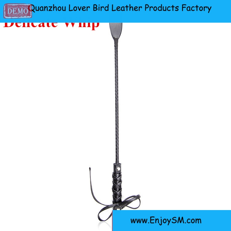 Newest Delicate PU Leather Riding Crop Sex Whip Aids Spanking Bondage Weave Hand Slave Sex Toys For Couple Adult Games